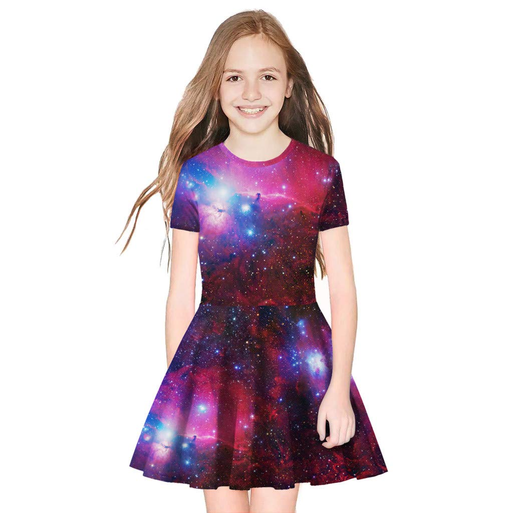 Amazon.com: Dress for Mother and Baby Girl Short Sleeve Digital Print Pleated Dresses Toponly: Arts, Crafts & Sewing