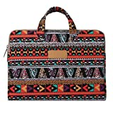 Mosiso Bohemian Phoenix Canvas Fabric Briefcase Carry Case Handbag for 13.3 Inch Laptop / Notebook Computer / Tablet / MacBook Air / MacBook Pro, Phoenix