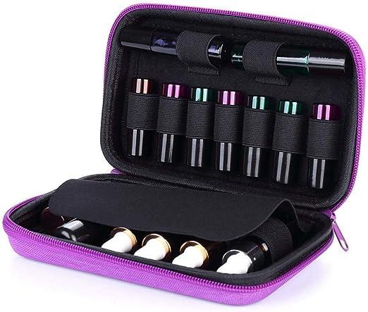 Soul hill Esencial Caja de Almacenamiento de 16 Botellas Esencial Estuche Aceite de la Caja, Ideal 5 ml 10 ml Violeta (Color : Violet): Amazon.es: Hogar