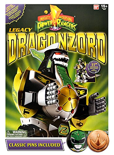 Bandai Saban's Mighty Morphin Power Rangers 2017 Legacy Edition Green Ranger Dragonzord with Helmet / Coin (Mighty Morphin Power Ranger Helmet)
