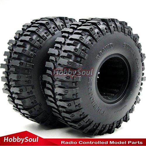 2pcs RC Super Swamper 1.9 Crawler Tires 120mm Fit 1.9in Crawler Beadlock - C3 Rims