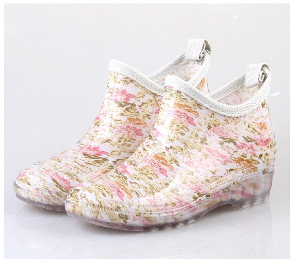 Hanxue Womens Waterproof Garden Shoes Rain Boots B01H6UJCG4 8.5 B(M) US|Floral