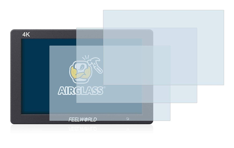 7 3er Pack - Flexibles Airglass BROTECT Panzerglas Schutzfolie kompatibel mit Feelworld T7 9H H/ärte