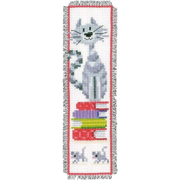 Vervaco - Patrón de Punto de Cruz para Marcador de Libros (6/20 cm, Tela Aida e Hilo 100% algodón): Amazon.es: Hogar