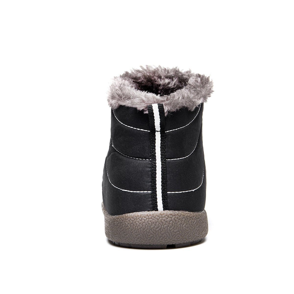 Enly Slip on Snow Boots Men Women,Anti-Slip Lightweight Ankle Bootie Fully Fur