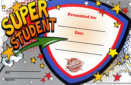 Eureka 'Super Student' Classroom Recognition Awards for Teachers, 36pc -