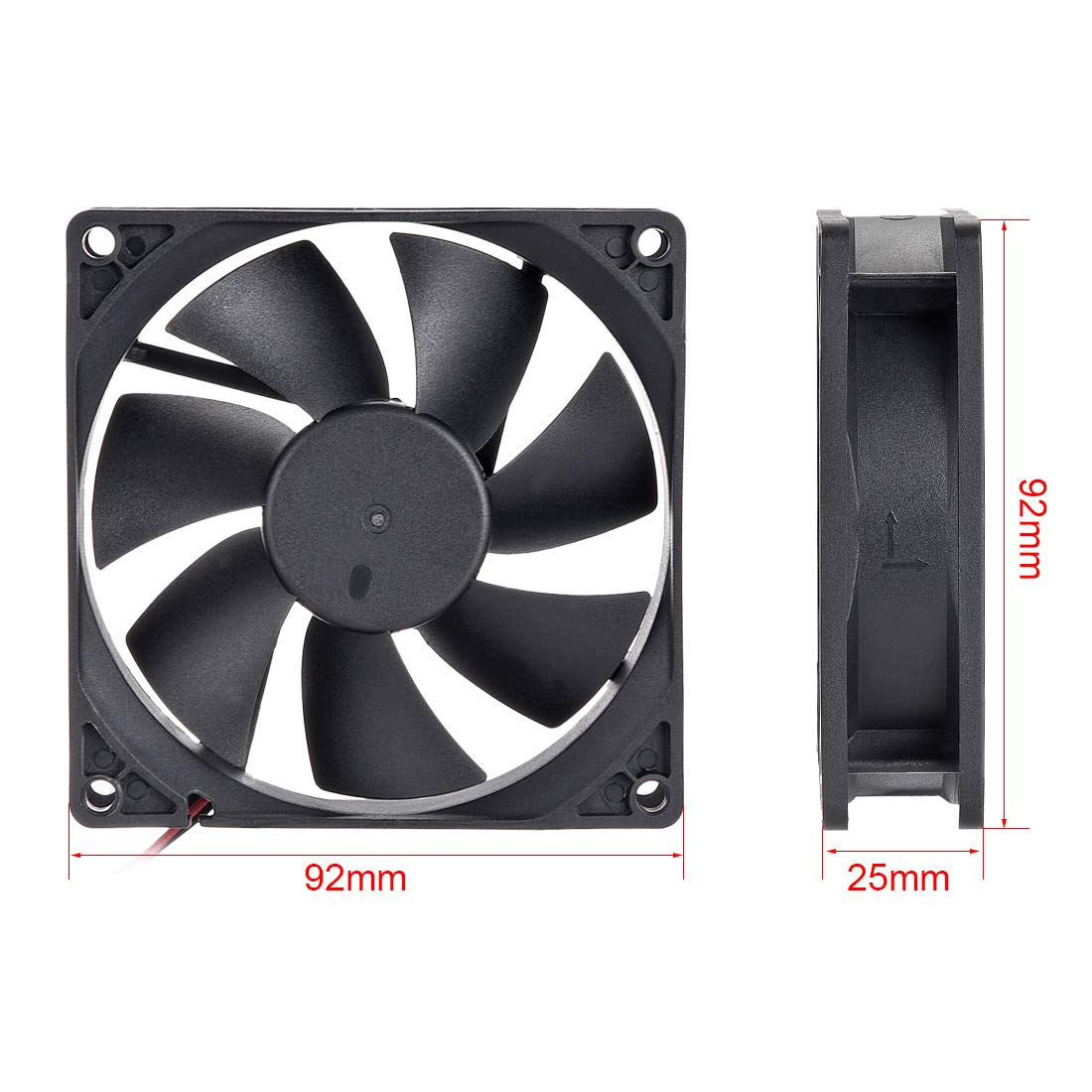 uxcell SNOWFAN Authorized 80mm x 80mm x 25mm 24V Brushless DC Cooling Fan #0297