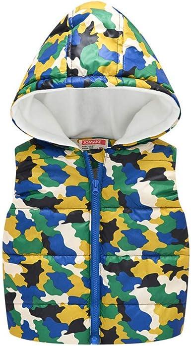 Baby Little Kids Girls Boys Sleeveless Zipper Hooded Warm Cartoon Waistcoat Jacket WOCACHI Toddler Puffer Vest