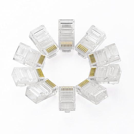 11 opinioni per UGREEN 10 Pezzi Plug Connettori di Rete Cat5, RJ45 Connettori Ethernet