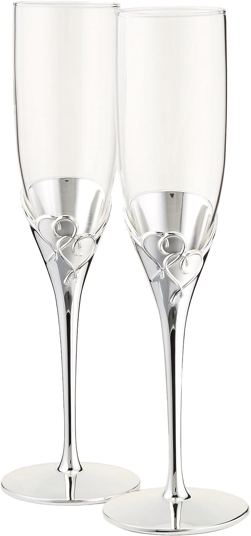 juego de dos copas altas para champaña