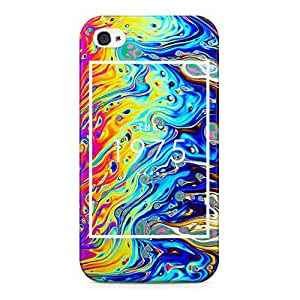 The 1975 Colorful Paint Rad Tye Dye Soap Film Trippy Holographic Hard Plastic Snap-On Case Cover For iPhone 4 and iPhone 4s