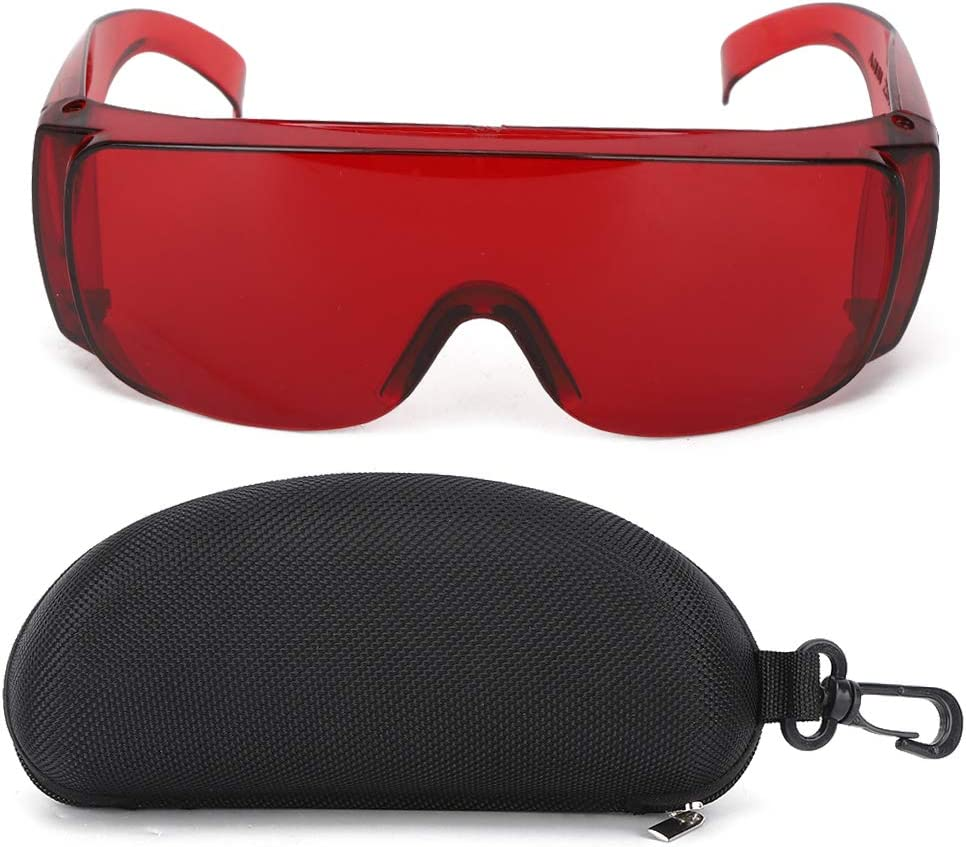 Gafas láser Gafas de seguridad Accesorio industrial Gafas protectoras Luz roja Longitud de onda 650 Luz azul 445 Luz azul púrpura 405 nm para filtro de luz(rojo)