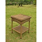 International Caravan 3188-MO-IC Furniture Piece Pvc Resin and Steel Outdoor Side Table