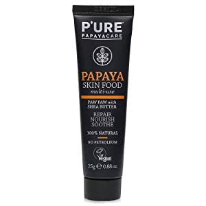 P'URE PAPAYACARE Papaya Skin Food - Australian Organic Papaya For Multi-Use, Nourish & Restore Dry, Cracked, Irritated Skin - Shea Butter, Calendula - VEGAN, 100% Natural, (0.88 oz)