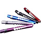 LEORX Lot de 3 stylos à LED réutilisables avec calibre pupille et lumière blanche