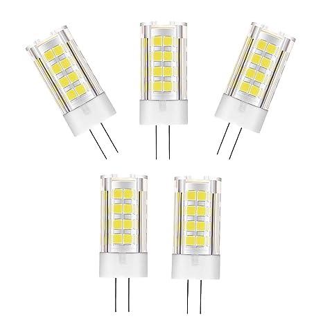 Klinkamz - Bombillas LED G4 (5 W, luz halógena fría, 6000 K,