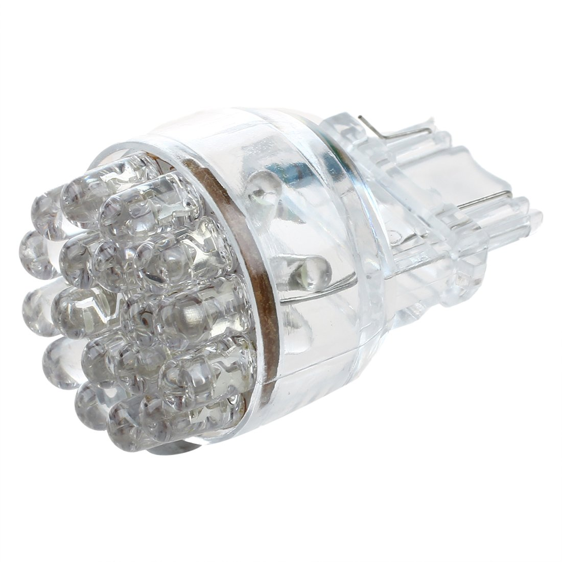 TOOGOO(R)T25 24 3157 3057 LED Car Brake Stop Turn Signal Light Bulb 1.5W Wedge White Super Bright