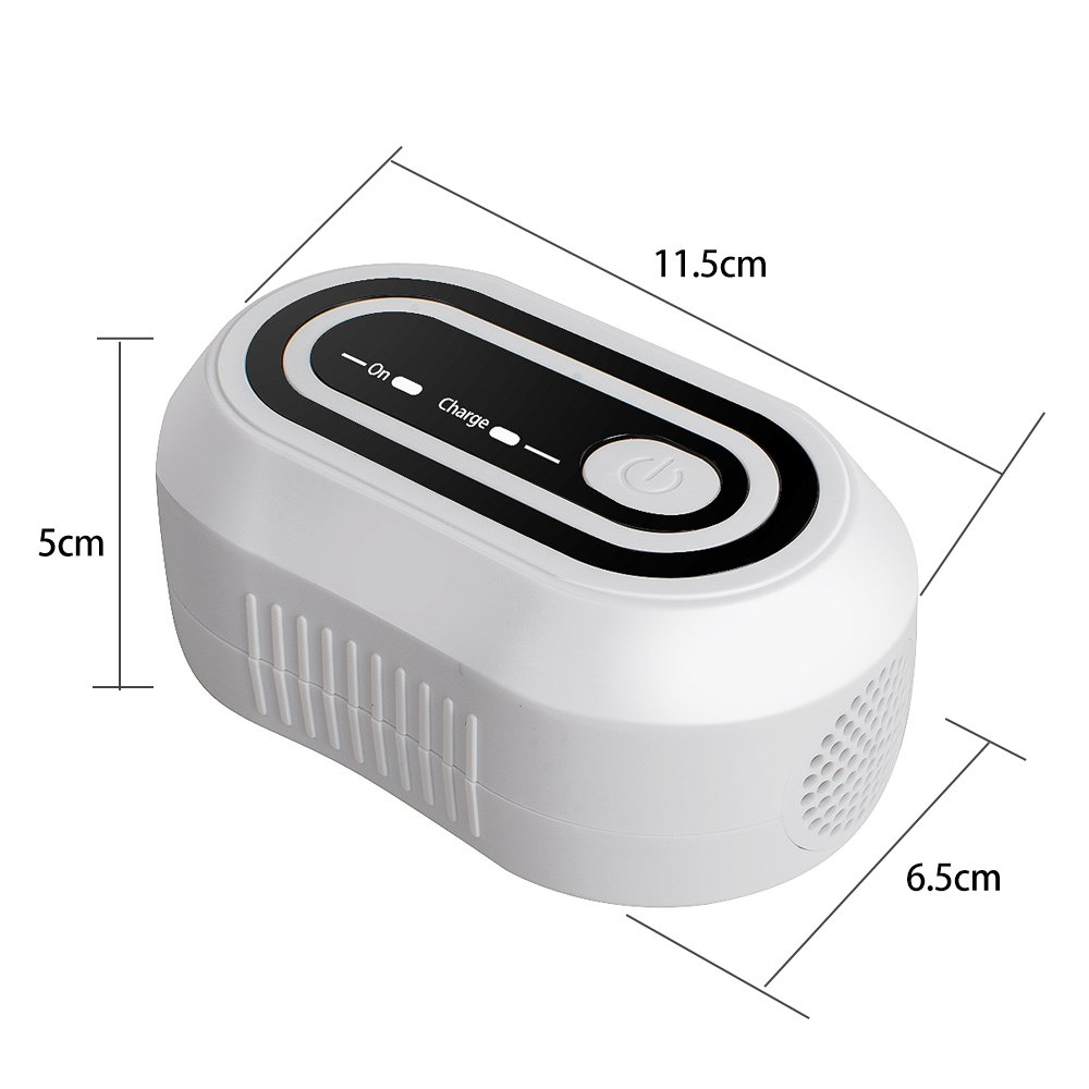 Zinnor Portable Mini CPAP Ozone Cleaner Disinfector Sterilizer CPAP Air Tubes Mask Cleaner Fast Cleaning - White by Zinnor (Image #2)
