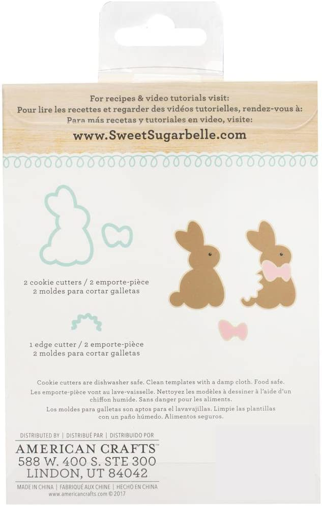 Sweet Sugarbelle - Easter Shape Shifter Sets - Chocolate Bunny, Multi-Cookie Egg and Bunny & Basket - Cookie Cutters, Templates and Instruction Card
