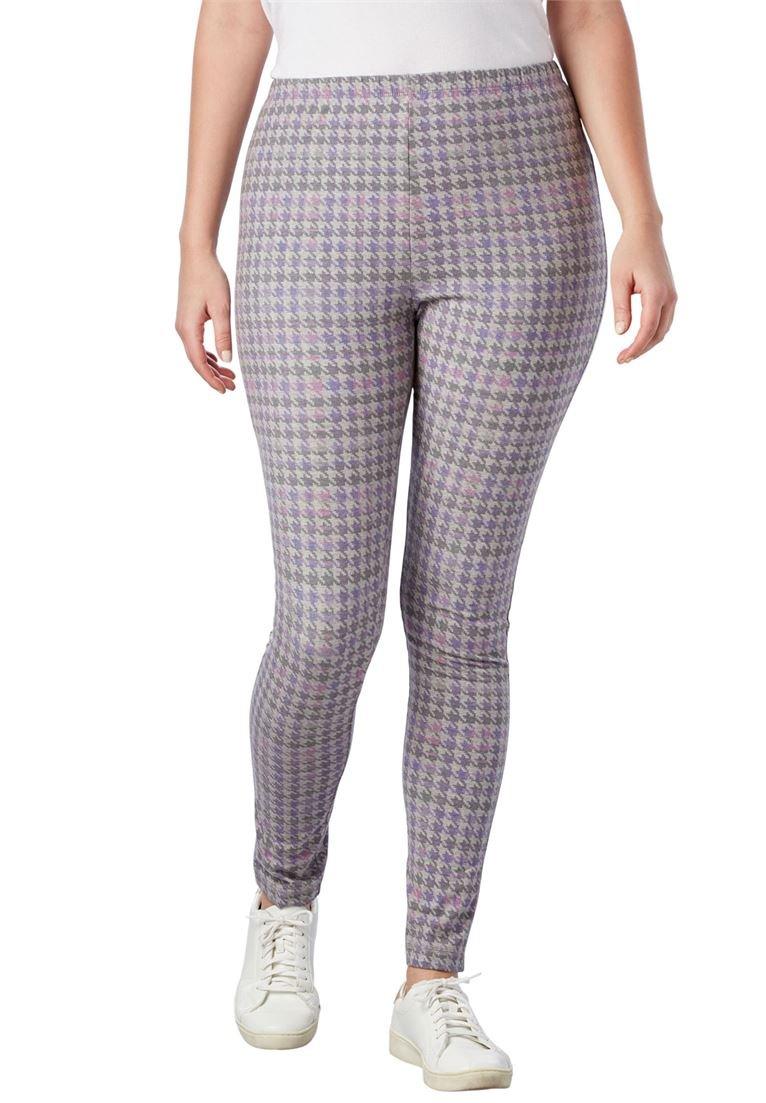 Woman Within Women's Plus Size Stretch Cotton Printed Legging