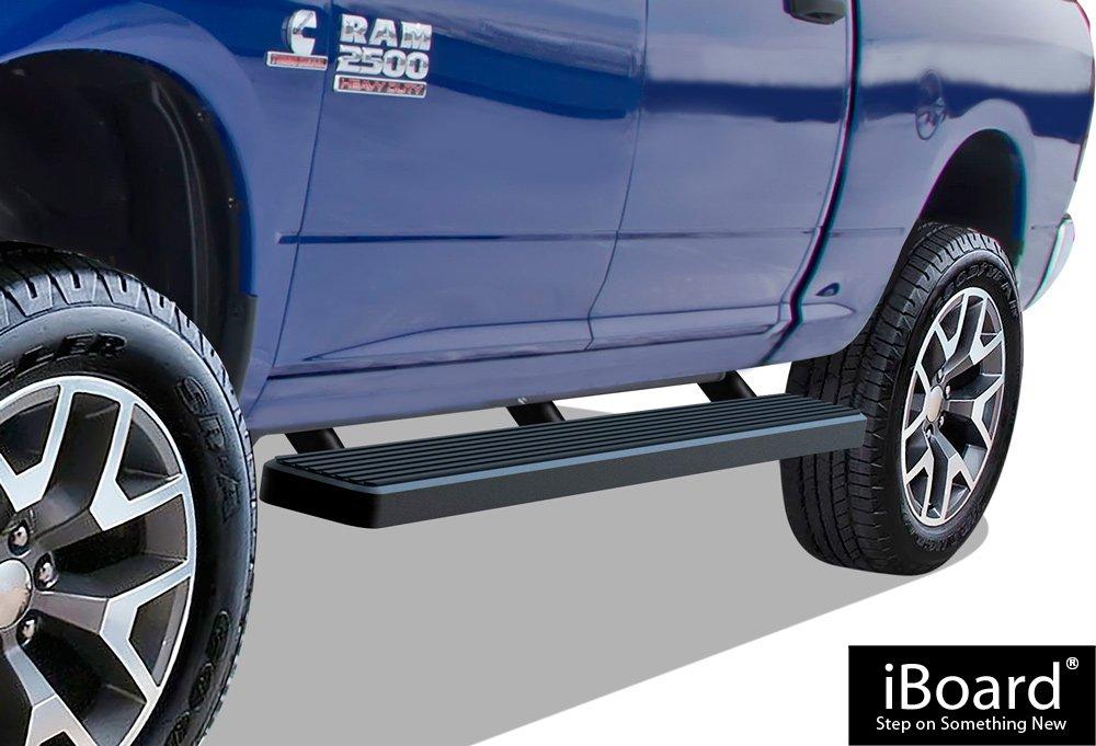 Nerf Bars   Side Steps   Side Bars iBoard Running Boards 5 Matte Black Custom Fit 2010-2018 Ram 2500//3500 Mega Cab Pickup 4-Door