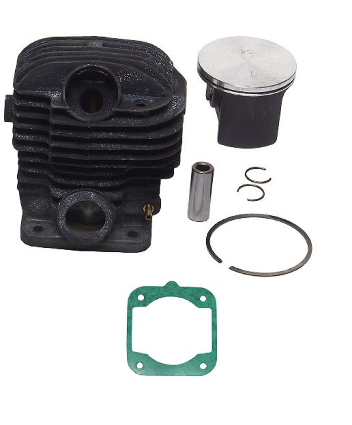 SPERTEK Big Bore Nikasil Plated Cylinder & Piston kit & Gasket Head for Dolmar/Makita (54mm) DCS6401, DCS6421