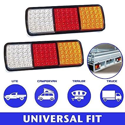 2x LED Light Rear Board Lamps Tail BRAKE STOP INDICATOR LAMP Trailer Truck Lorry