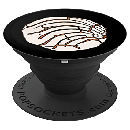 Concha Mexican Bread Bakery Sweets White Pan Dulce - PopSockets Grip and Stand for Phones and
