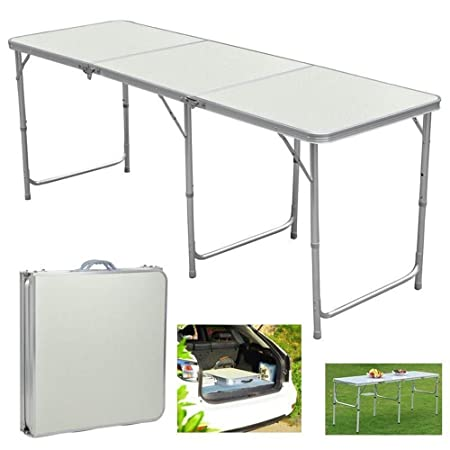 Aromdeeshopping Folding Table in Outdoor Picnic Party Dining Camping Table Portable Aluminum 6ft