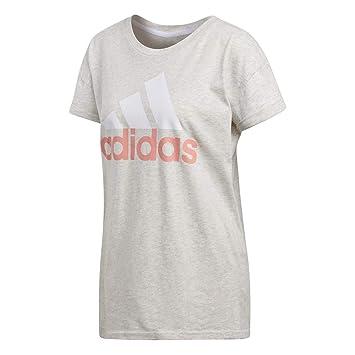 f1f1aa13 adidas T-shirt femme Essentials Linear Loose: Amazon.co.uk: Sports ...