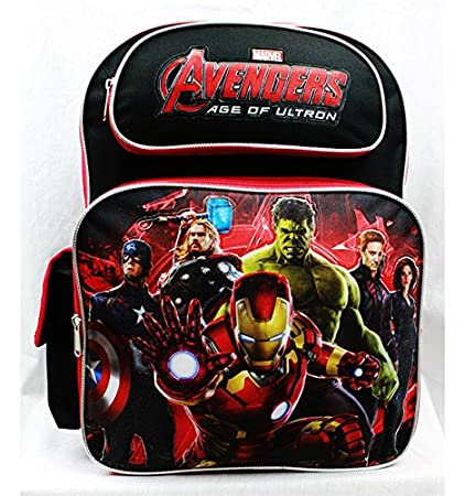 2d0af25051 Amazon.com  Backpack - Marvel - Avengers All Heroes Black Red School Bag  New a01334  Toys   Games