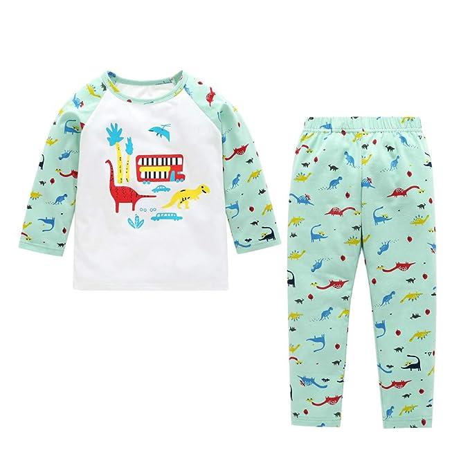 ❤ Conjunto para niños otoño Invierno, Newborn Kids Baby Boy Girl Dinosaurio Imprimir Tops + Pants Conjunto de 2 Piezas de Pijama Absolute: Amazon.es: ...