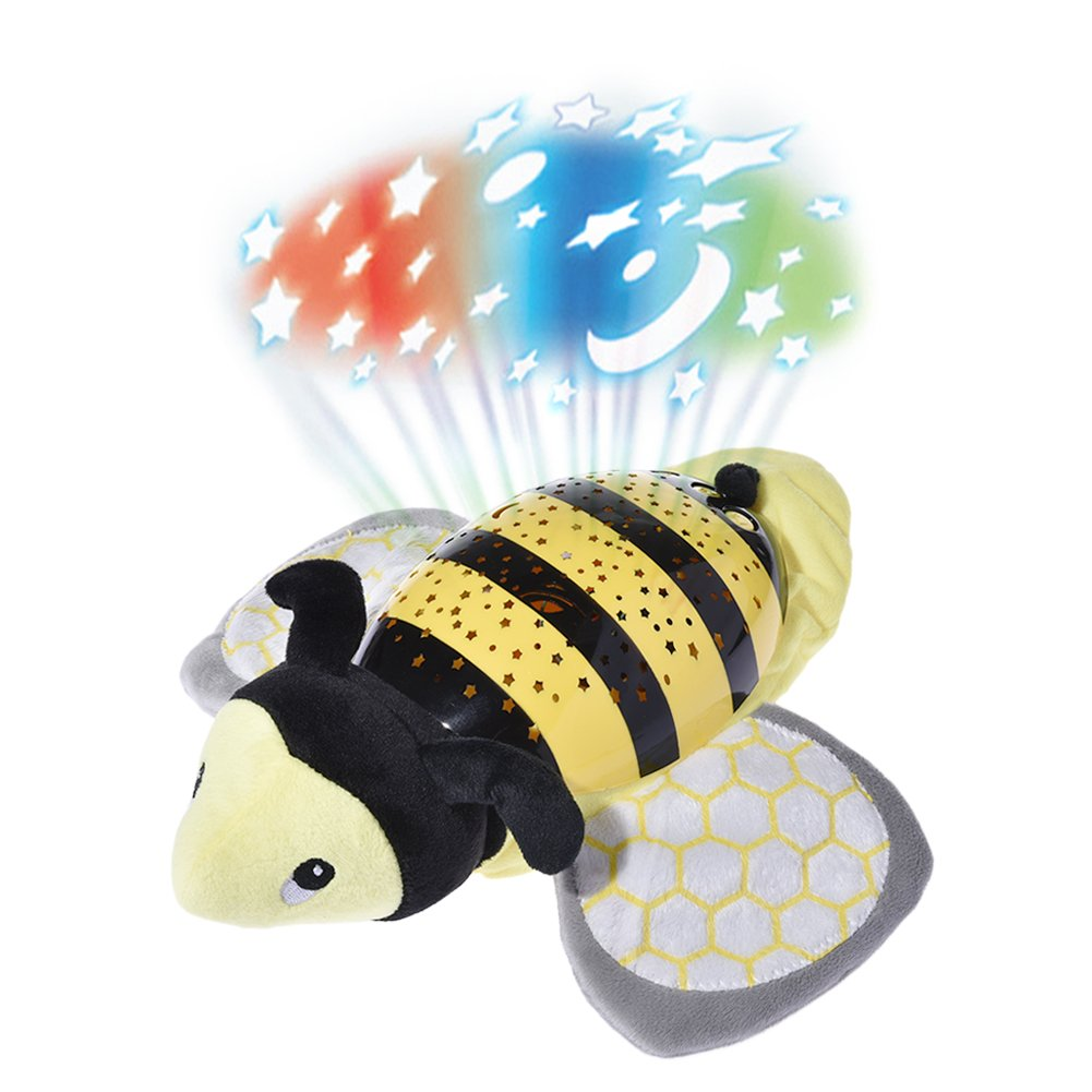 Musical Projector, Luerme Projection Night Light Plush Animal Musical Toy with 62 Soothing Songs and Beautiful Light (Butterfly)
