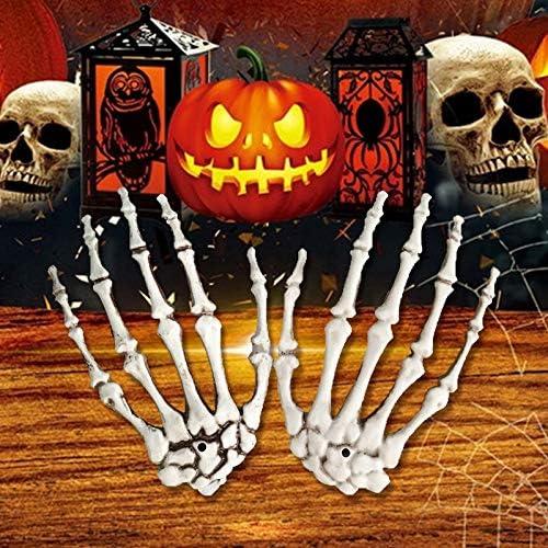 la d/écoration de Jardin de f/ête dhalloween ou Les Accessoires de Maison hant/ée Mytobang Une Paire de Mains squelettes en Plastique pour Les d/écorations pour la Maison