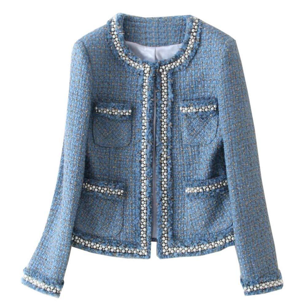 DGFHR Chaqueta De Mujer Chaqueta De Tweed Abrigo Otoño ...