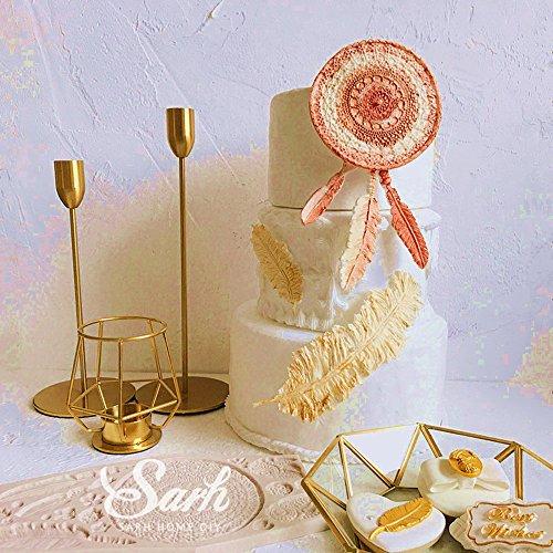 (Set of 2) Sakolla Dream Catcher Cake Decoration 3D Big Feathers Silicone Mold Fondant Mold DIY Cake Decorating Tool Candy Chocolate Mold by Sakolla (Image #1)