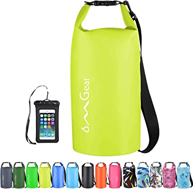 Amazon Com Omgear Waterproof Dry Bag Backpack Waterproof Phone Pouch 40l 30l 20l 10l 5l Floating Dry Sack For Kayaking Boating Sailing Canoeing Rafting Hiking Camping Outdoors Activities Sports Outdoors