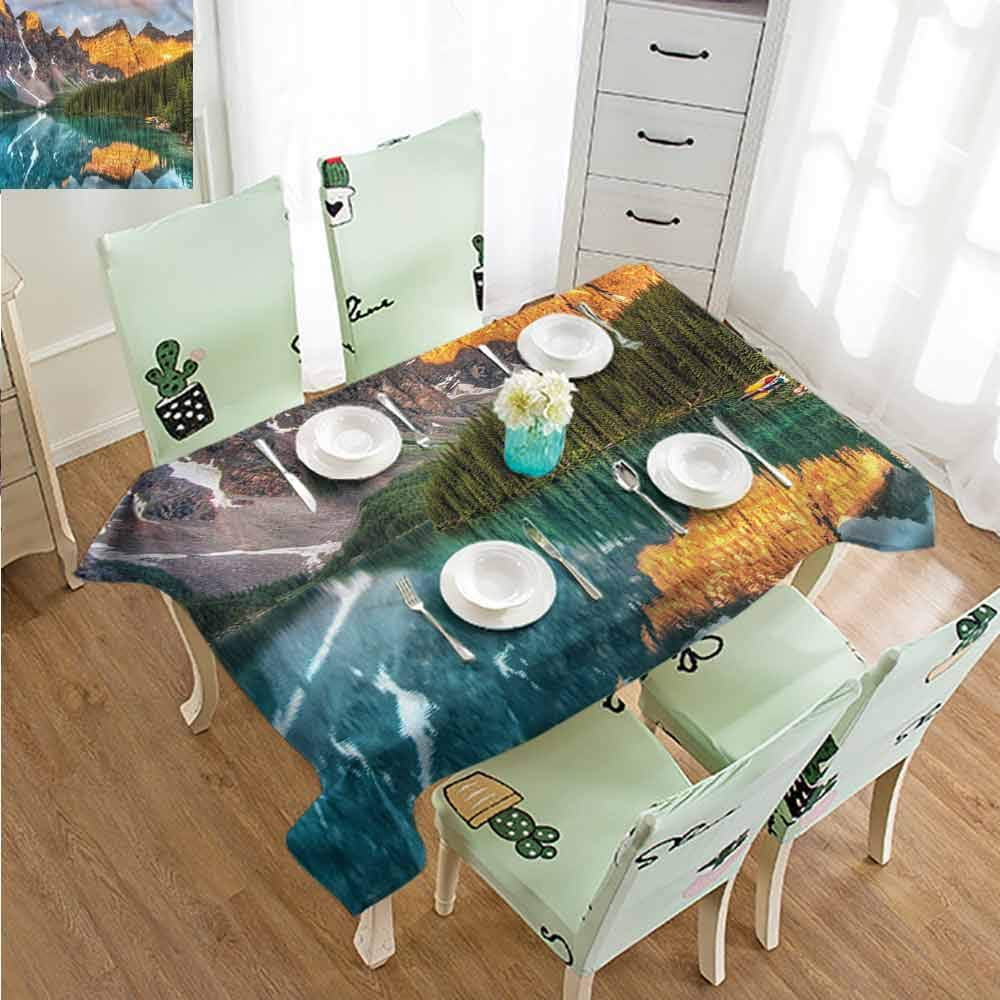 SLLART Vintage tablecloths Nature,Moraine Lake Canadian W60 xL90,for Cards