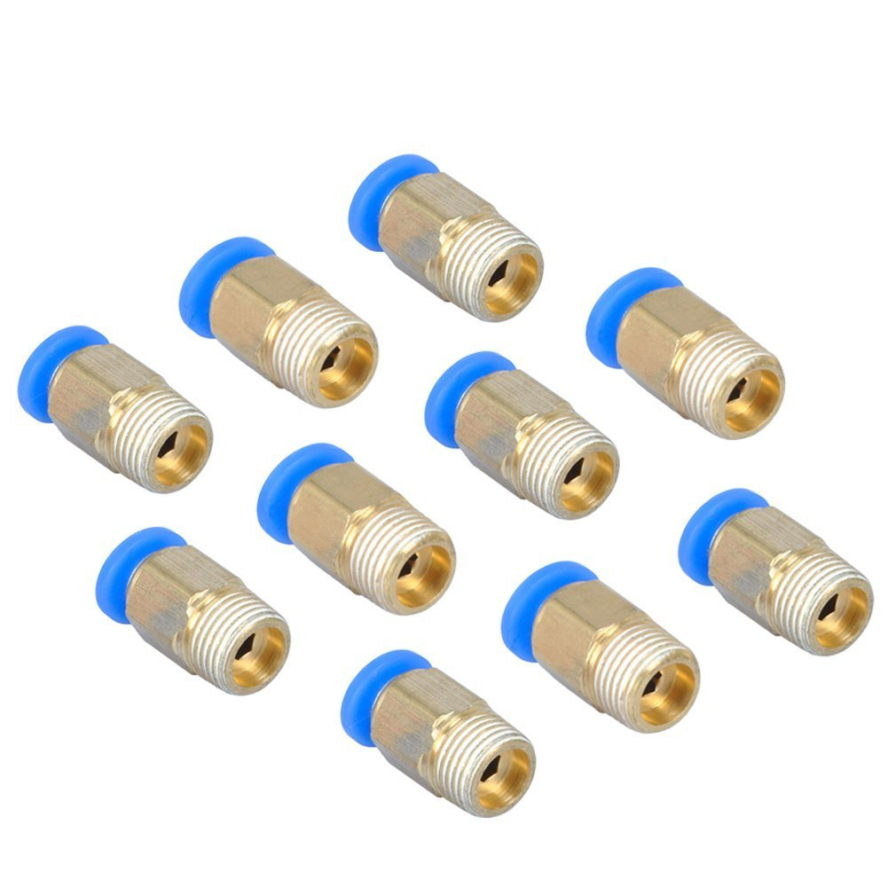 Au/ßengewinde 4/mm Push In Joint pneumatischen Anschluss Quick Fittings f/ür PTFE Tube 3D Drucker Anschluss 01/9,7/mm//9,65/cm tenlacum 10/PCS PC4