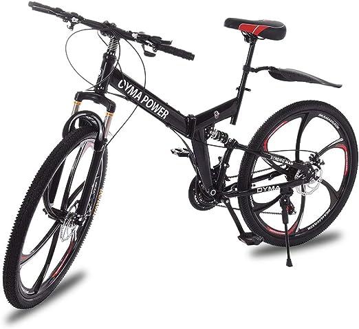 "Black NEW YOUMA folding mountain bike 26/"""