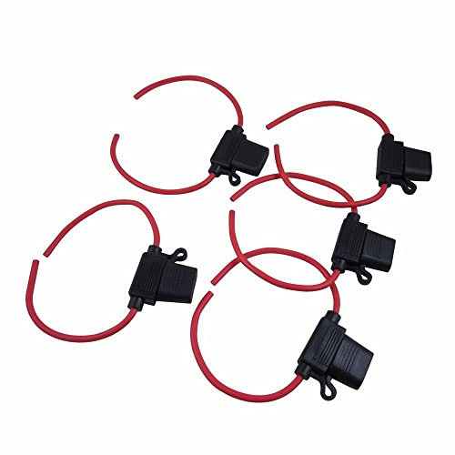 4 pcs auto car audio inline blade fuse holder black red dc 12v digiten 12 gauge inline water resistant atcato fuse holder pack of 5 greentooth Gallery