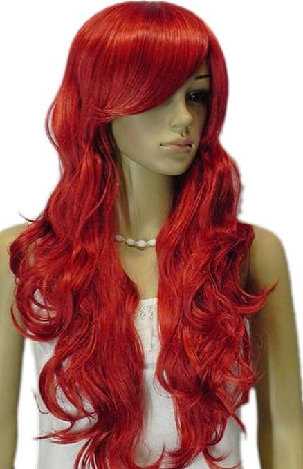 Qiyun.z pelo largo piezas Mujer pelucas grandes olas wellenförmig ...