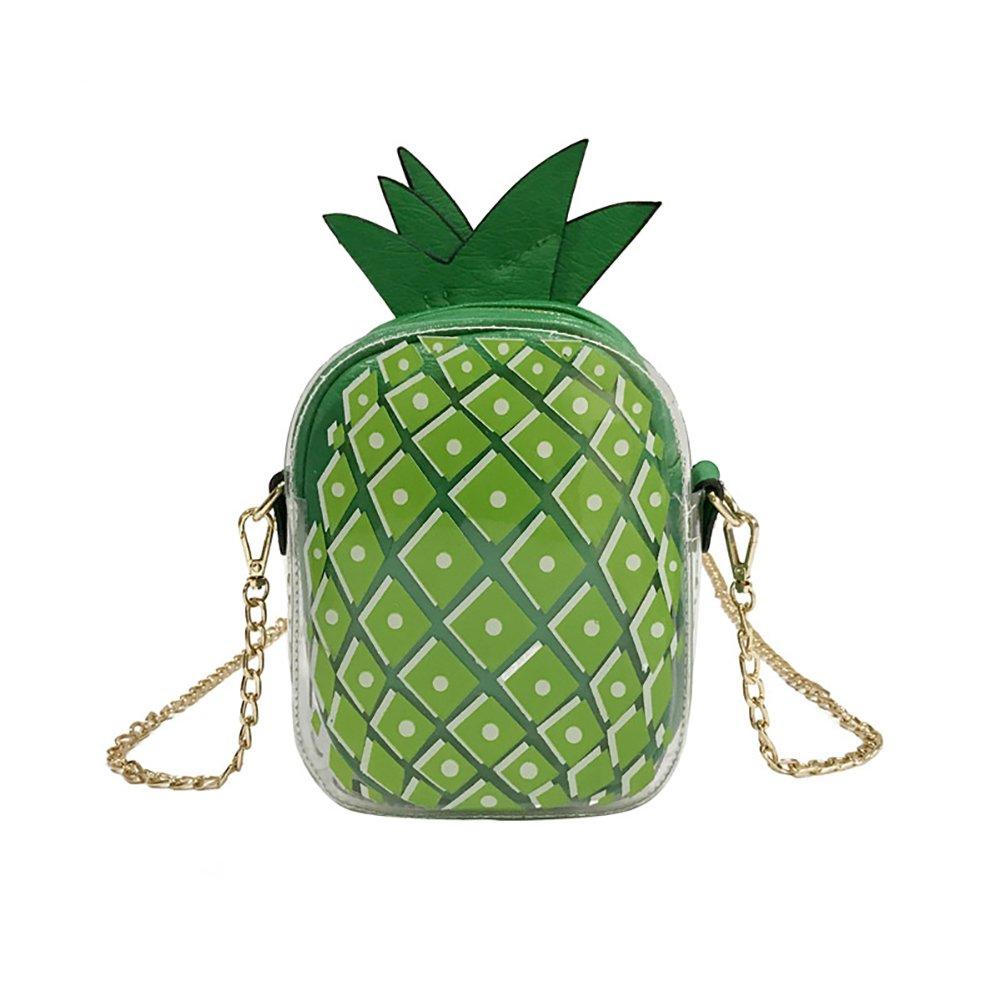 Women Shoulder Bag,Starlit Cute Pineapple Shape Chain Bag Cross Body Bag for Summer (Green)