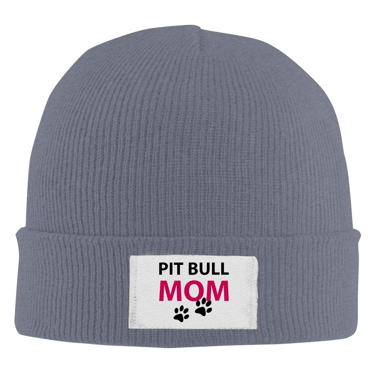 Unisex Stylish Slouch Beanie Hats Black Pit Bull Mom Top Level Beanie Men Women
