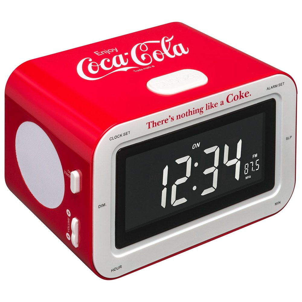 BigBen RR30 - Radio despertador, diseño Coca Cola clásico (importado)