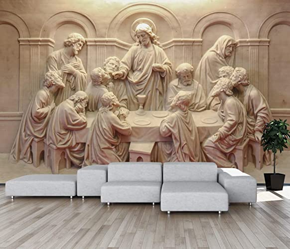 amazon com murwall 3d embossed cement wallpaper religious sculptureimage unavailable image not available for color murwall 3d embossed cement wallpaper religious sculpture wall mural