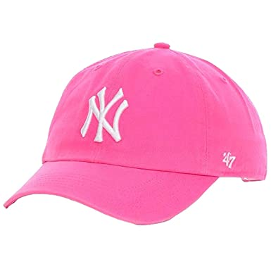 12ec7543c4e251 Image Unavailable. Image not available for. Color: '47 Brand. New York  Yankees Womens Clean Up Cap - Magenta