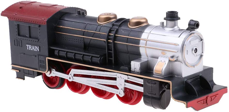 IPOTCH Modelo De Tren Locomotora De Vapor Europeo De Juguete Retro De Vehículo para Modelo De Mesa De Arena - A