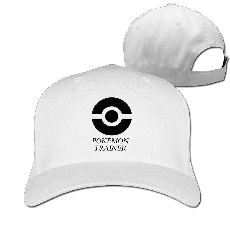 GXGML Pokemon Trainer Unisex Fashion Adjustable Pure 100% Cotton Peaked Cap Sports Washed Baseball Hunting Cap Cricket Cap Natural