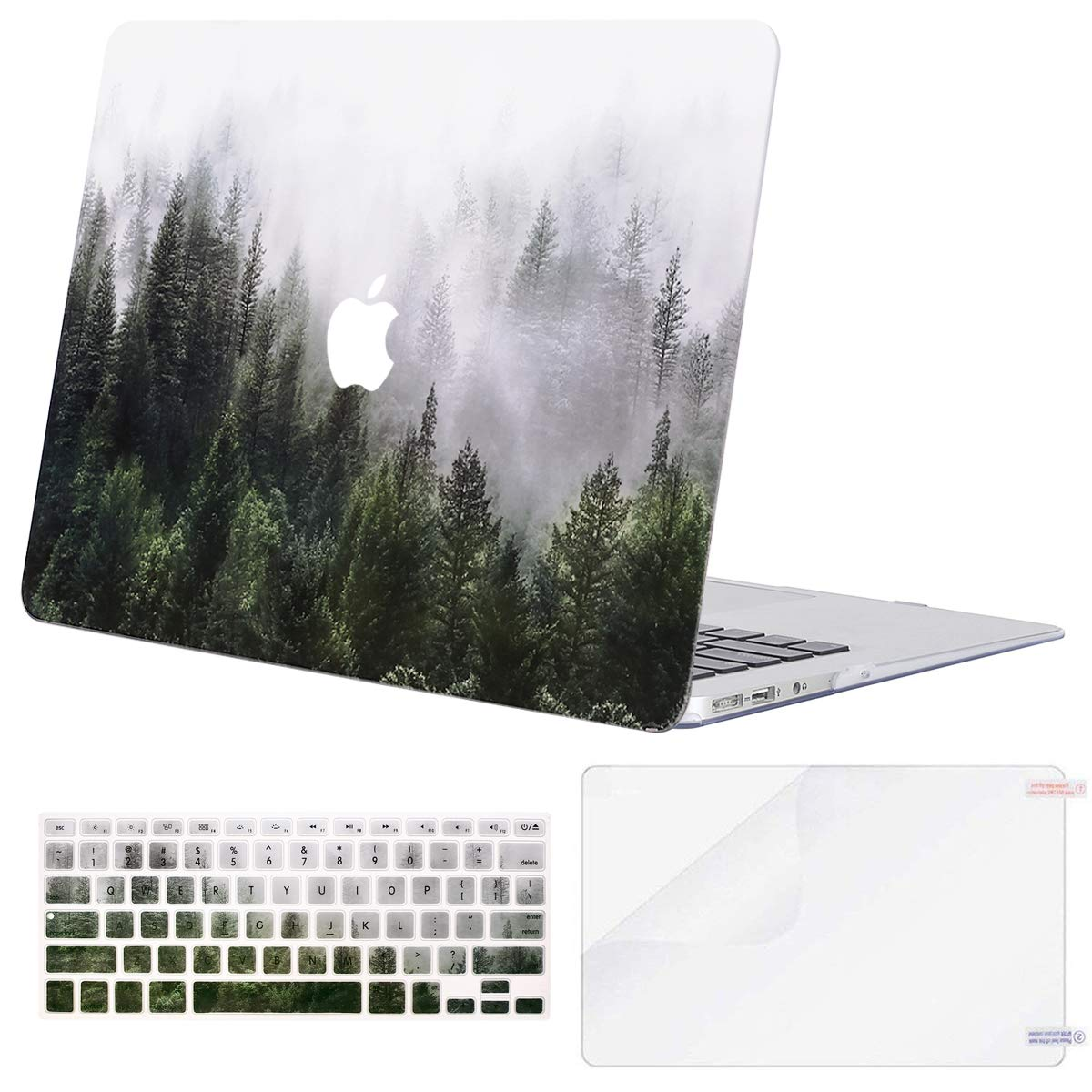 Models: A1369 /& A1466, Older Version Release 2010-2017 Great Sea Wave MOSISO Plastic Pattern Hard Case /& Keyboard Cover /& Screen Protector Compatible MacBook Air 13 Inch
